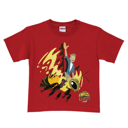 Wild Kratts Martin's Wasp Ride Red T-Shirt