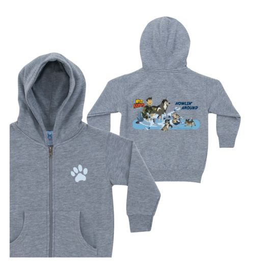 Wild Kratts Howlin' Around Gray Zip-up Hoodie