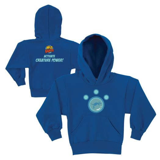 Wild Kratts Kangaroo Power Royal Blue Youth Hoodie