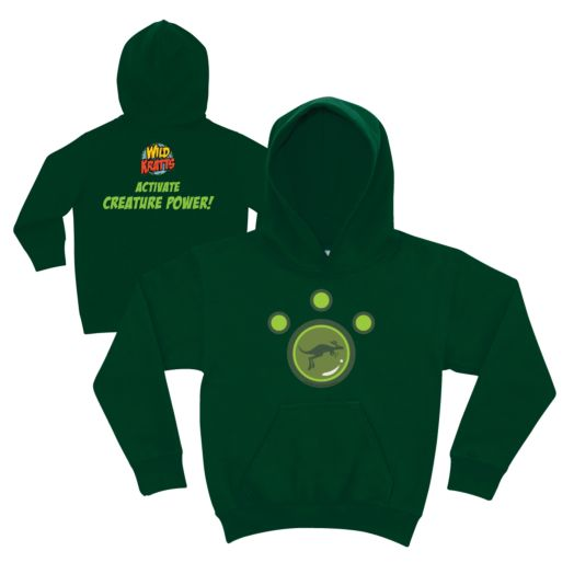 Wild Kratts Kangaroo Power Forest Green Youth Hoodie