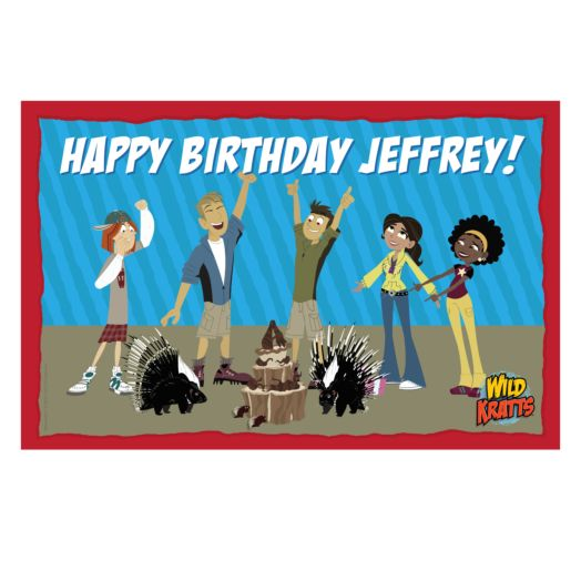 Wild Kratts Wild Birthday Placemat