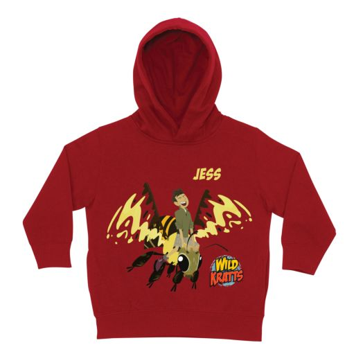 Wild Kratts Chris&s Wasp Ride Red Toddler Hoodie