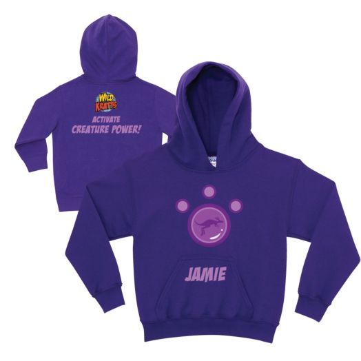 Wild Kratts Kangaroo Power Purple Youth Hoodie