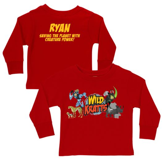 Wild Kratts Creature Adventure Red Long Sleeve Tee