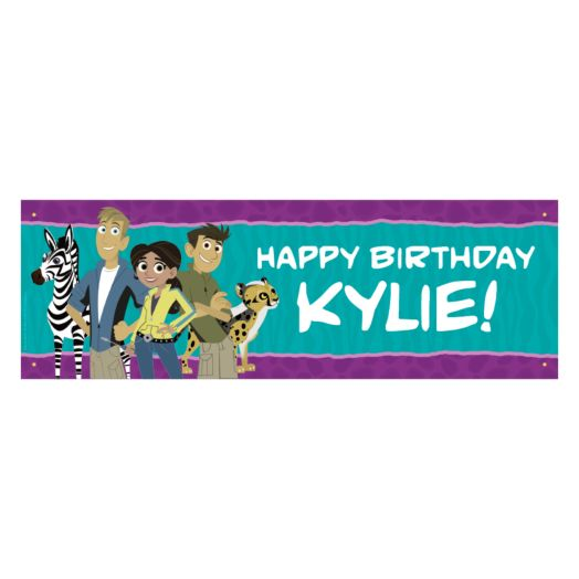 Wild Kratts Party Animals Birthday Banner