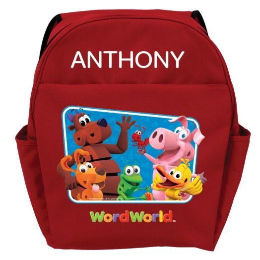 WordWorld Hello WordFriends Red Youth Backpack