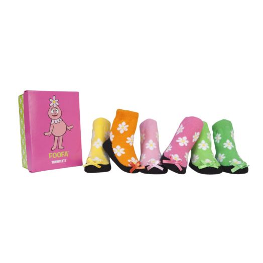 Yo Gabba Gabba Foofa 6-Pack Gift Box of Baby Socks (0-12 MO.)