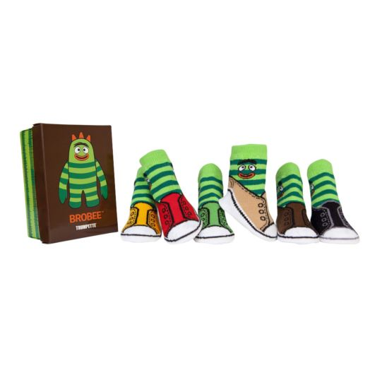 Yo Gabba Gabba Brobee 6-Pack Gift  Box of Baby Socks (0-12 MO.)