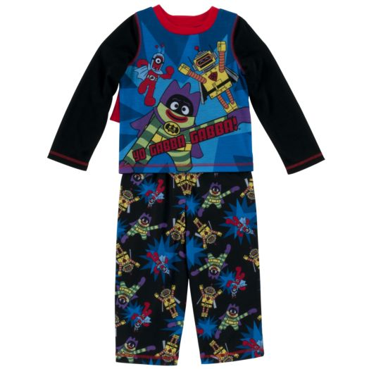 Yo Gabba Gabba Long Sleeve Toddler Boys 2-Piece Pajamas Set with Cape