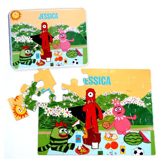 Yo Gabba Gabba Personalized Puzzle and Gift Tin