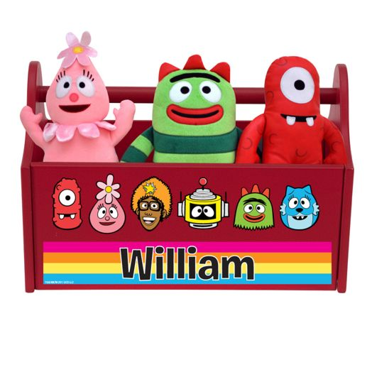 Yo Gabba Gabba Line-Up Red Toy Caddy