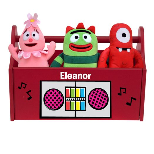Yo Gabba Gabba Boom Box Red Toy Caddy