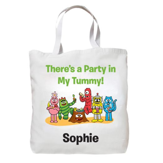 Yo Gabba Gabba Tummy Party White Tote Bag