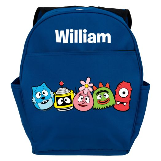 Yo Gabba Gabba Heads in a Row Blue Youth Backpack