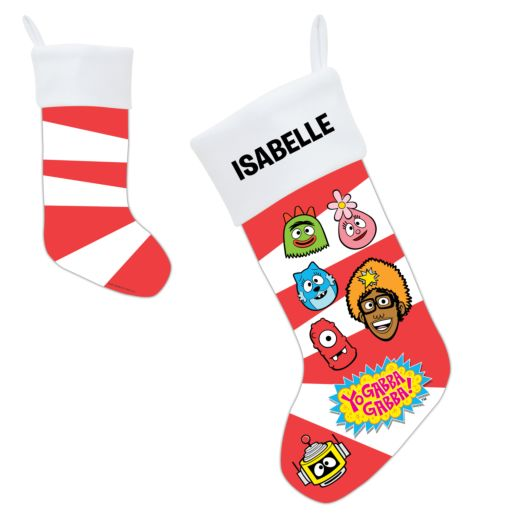 Yo Gabba Gabba Candy Cane Faces Stocking