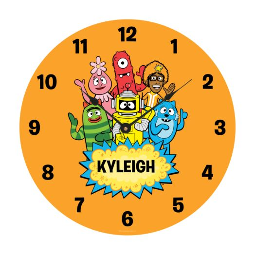 Yo Gabba Gabba Hello Friends Wall Clock