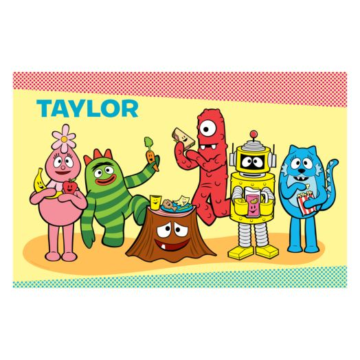 Yo Gabba Gabba Tummy Party Picnic Placemat