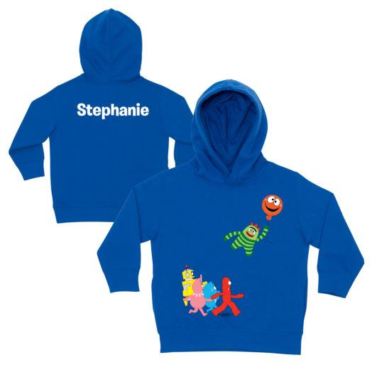 Yo Gabba Gabba Balloon Getaway Royal Blue Toddler Hoodie