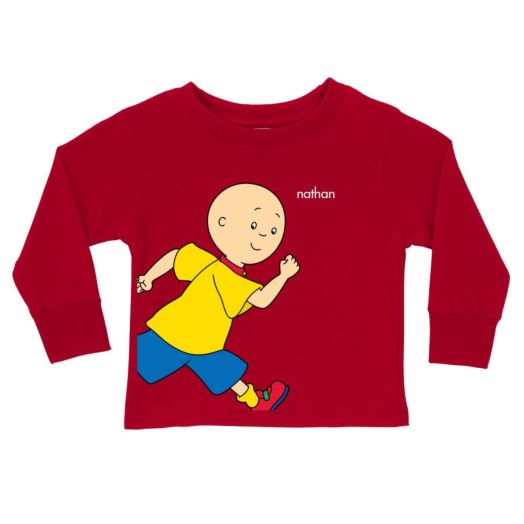 Caillou Running Red Long Sleeve Tee