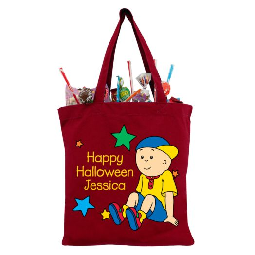 Caillou & Stars Red Trick-or-Treat Bag