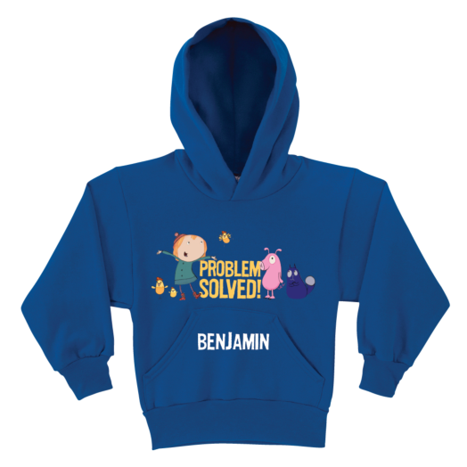 Peg + Cat Problem Solved Group Royal Blue Youth Hoodie