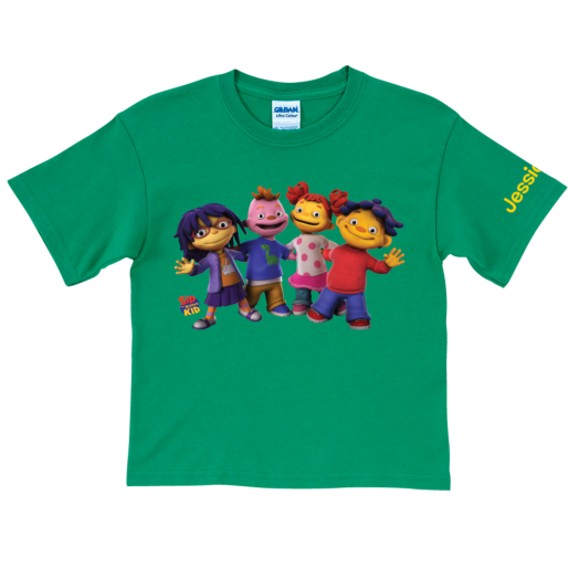 Sid the Science Kid & Friends In-A-Row Green T-Shirt