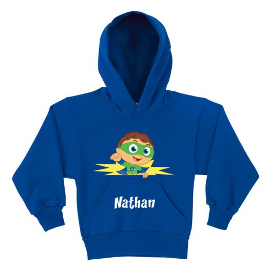 Super Why Reading Power Royal Blue Youth Hoodie