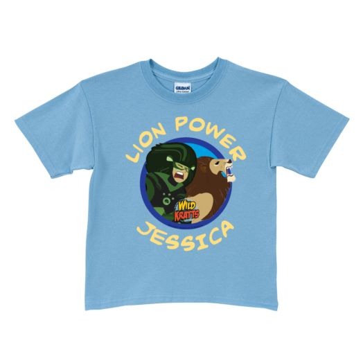 Wild Kratts Lion Power Light Blue T-Shirt