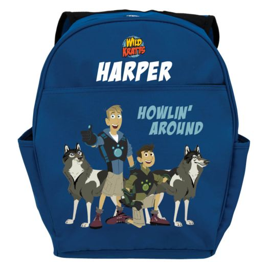 Wild Kratts Howlin Around Blue Youth Backpack