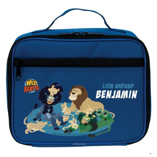 Wild Kratts Lion Around Blue Lunch Bag