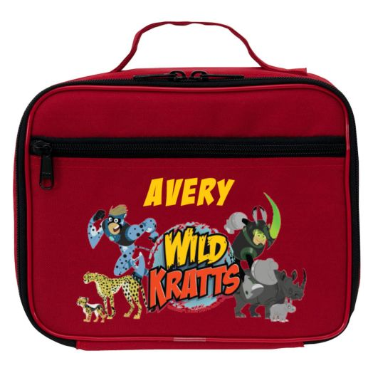 Wild Kratts Creature Adventure Red Lunch Bag