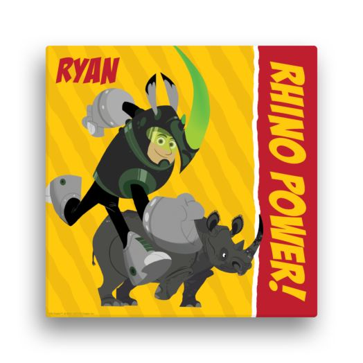 Wild Kratts Rhino Power 12 x 12 Canvas Wall Art