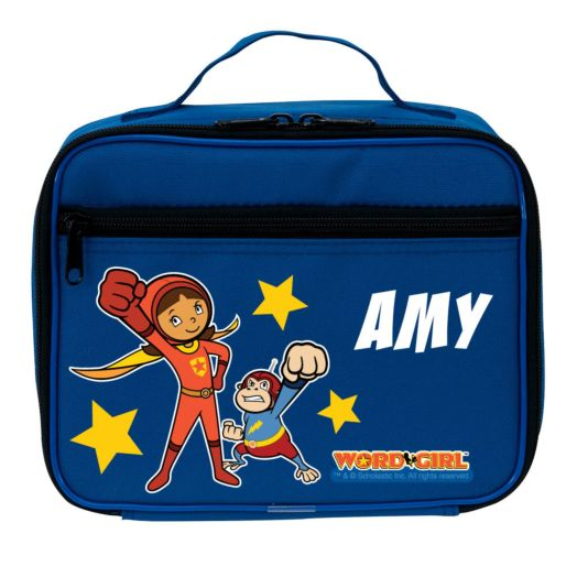 WordGirl & Captain Huggy Face Punch Blue Lunch Bag