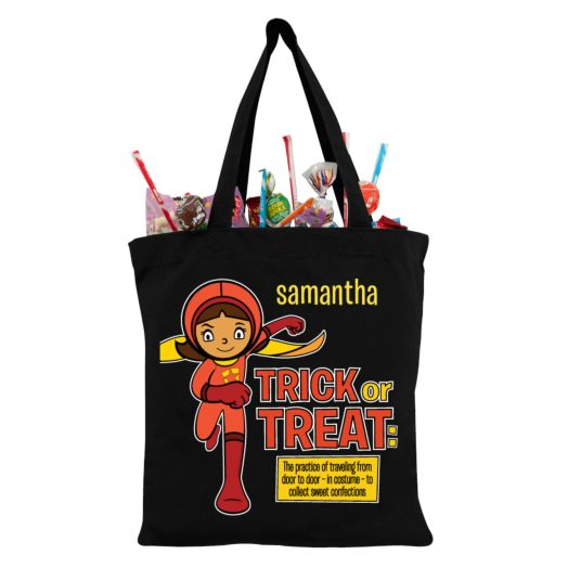 WordGirl to the Rescue Black Trick-or-Treat Bag
